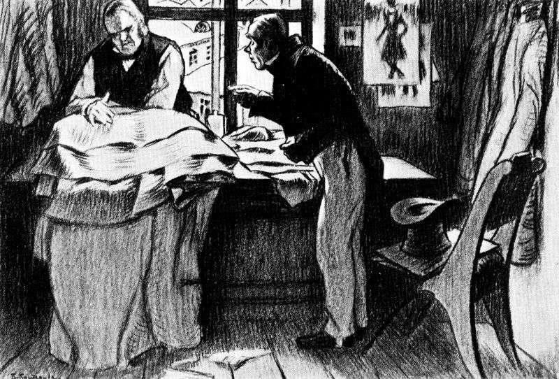 Akaky Akakievich w Pietrowicz   Boris Kustodiew