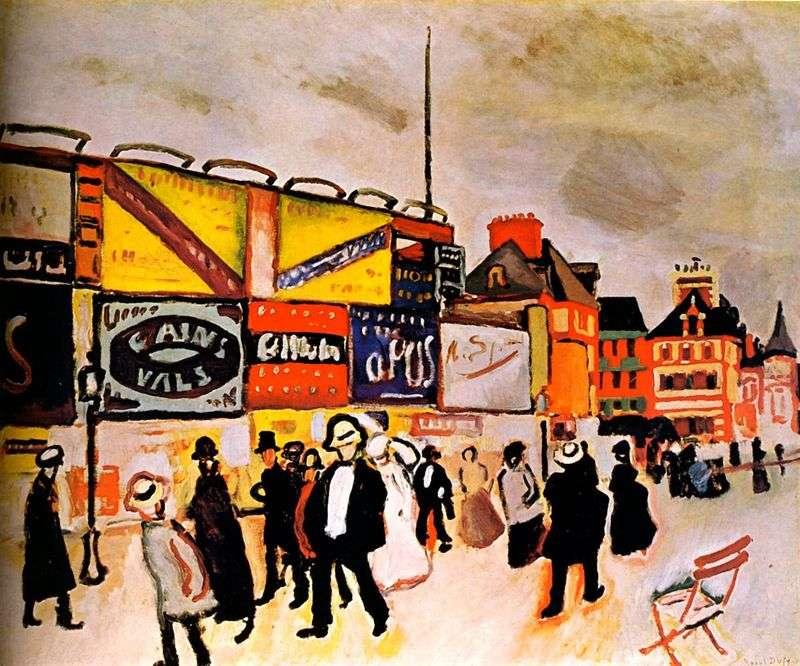Billboardy w Trouville   Raoul Dufy