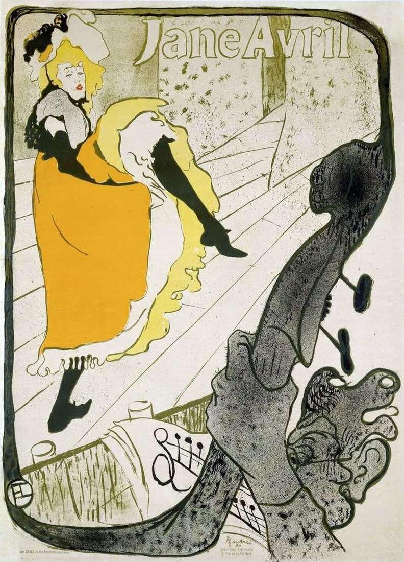 Plakat Jane Avril   Henri de Toulouse Lautrec
