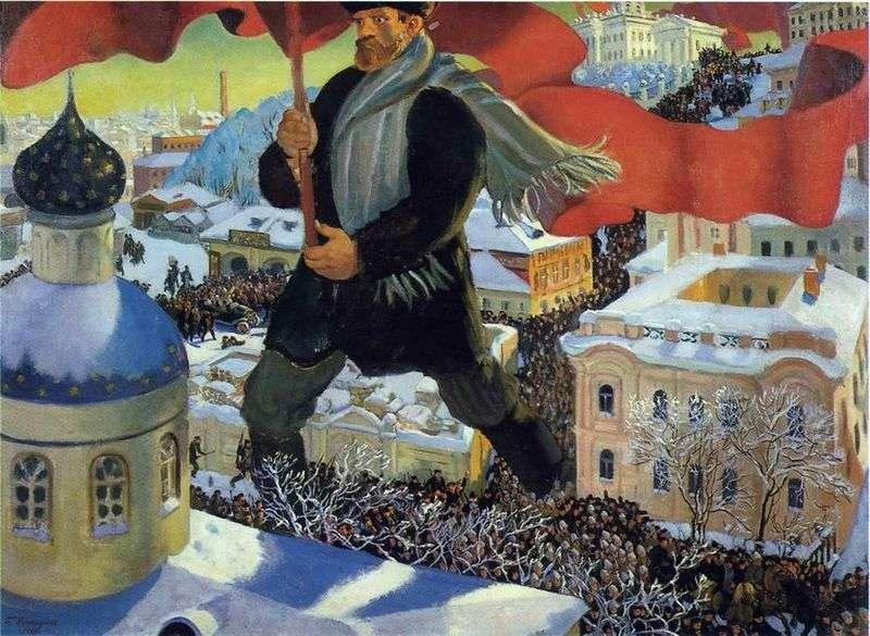 Bolszewik   Borys Kustodiew