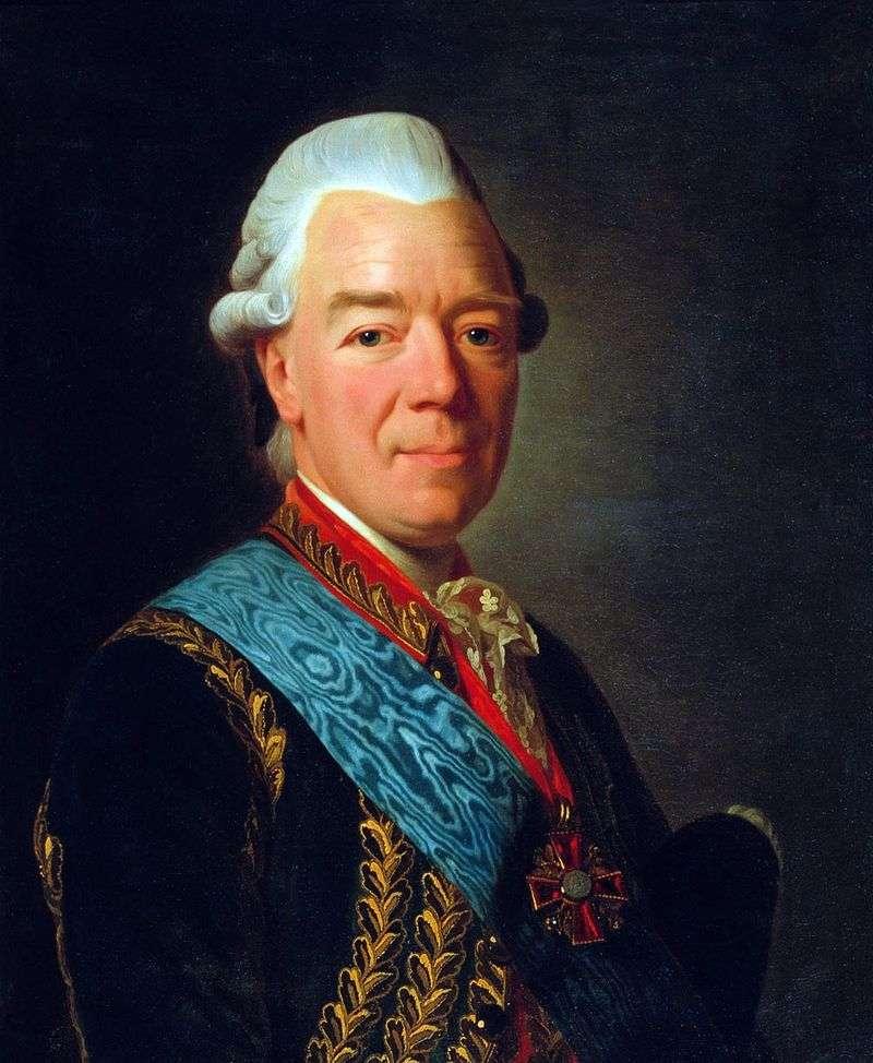 Portret hrabiego Zakhara Grigorieje Czernyszew   Aleksandra Roslina