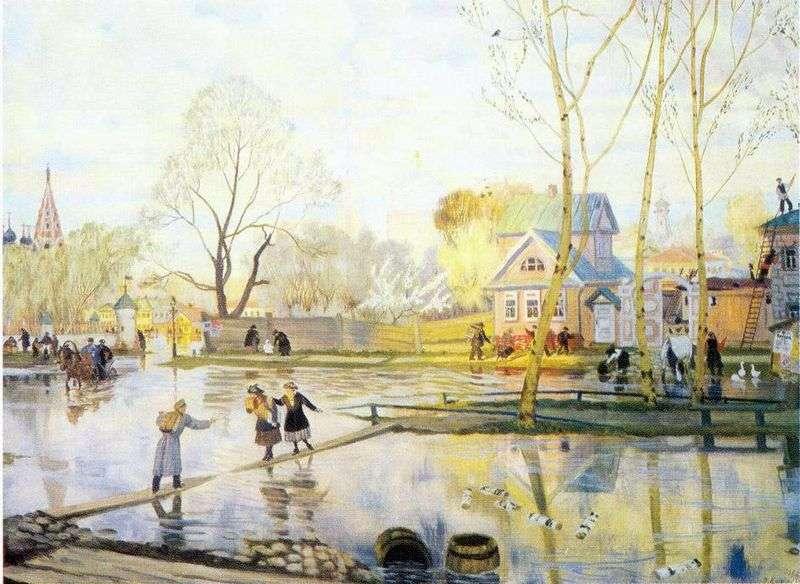Wiosna   Boris Kustodiew