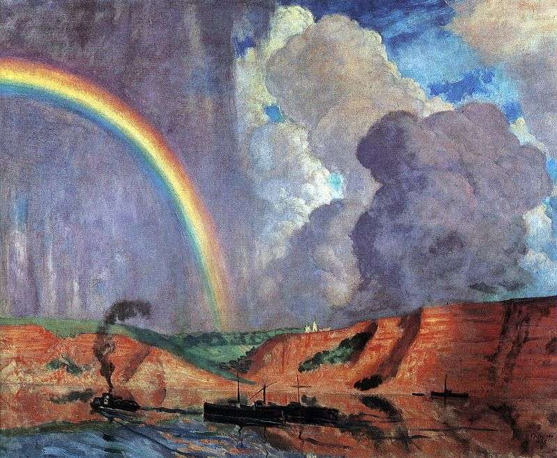 Wołga. Rainbow   Kustodiyev