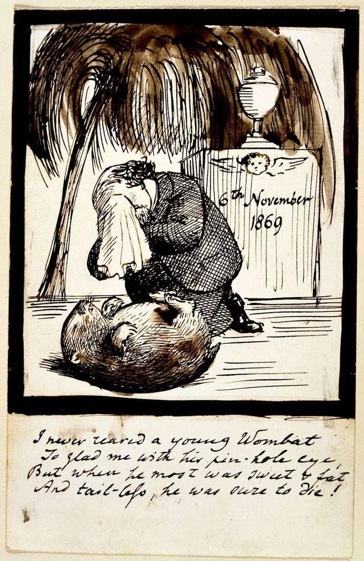 Autoportret artysty płaczącego przy grobie wombata   Dante Rossetti