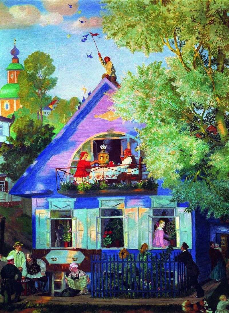 Blue House   Boris Kustodiev