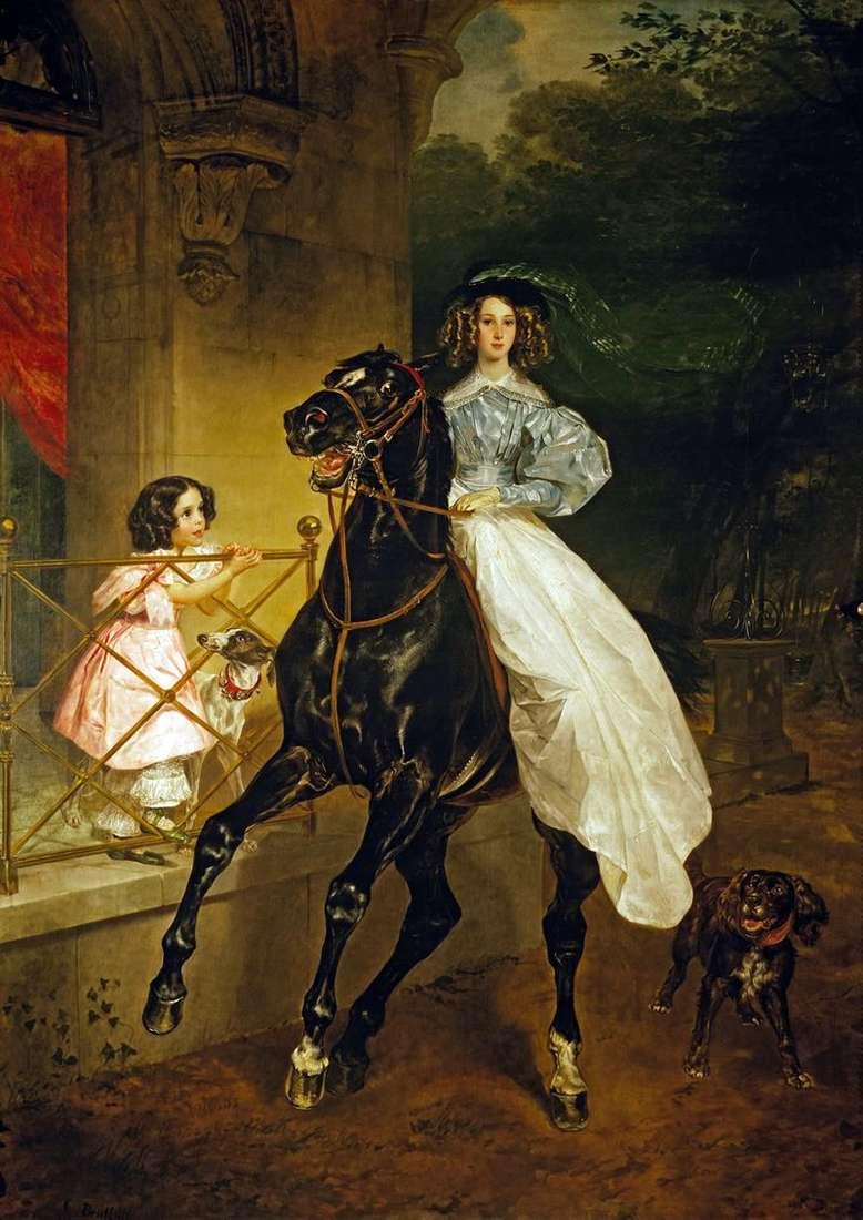 Horsewoman   Karl Bryullov