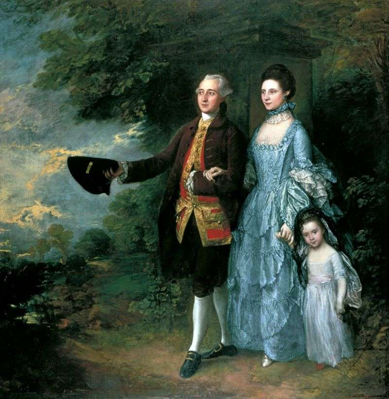 George i Louise Beam z córką Sarah   Thomas Gainsborough