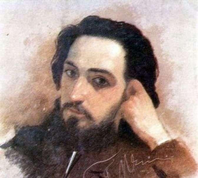 Portret V. M. Garshin   Grigorij Myasojedow