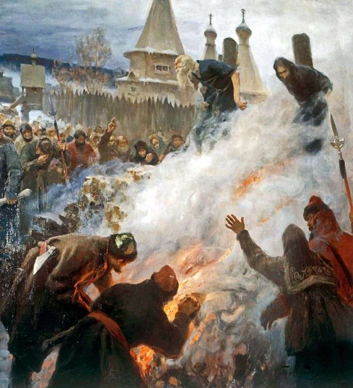 Palenie Avvakum   Grigorij Myasojedow