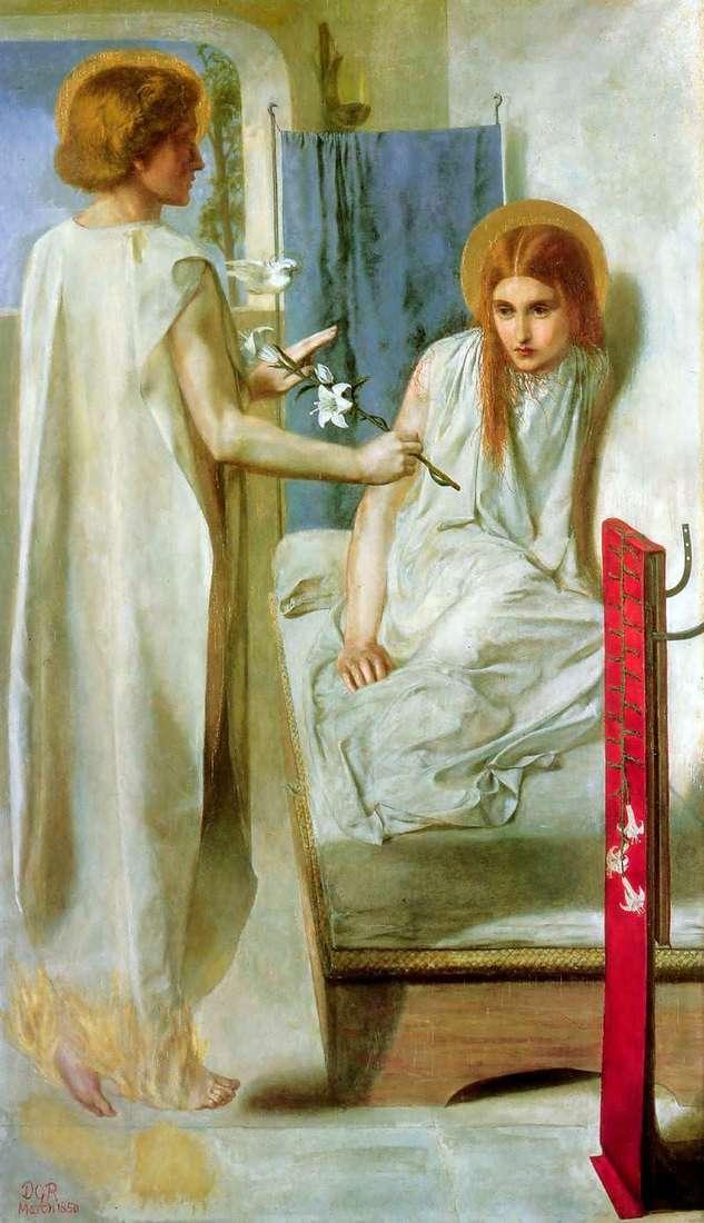Zwiastowanie   Dante Gabriel Rossetti