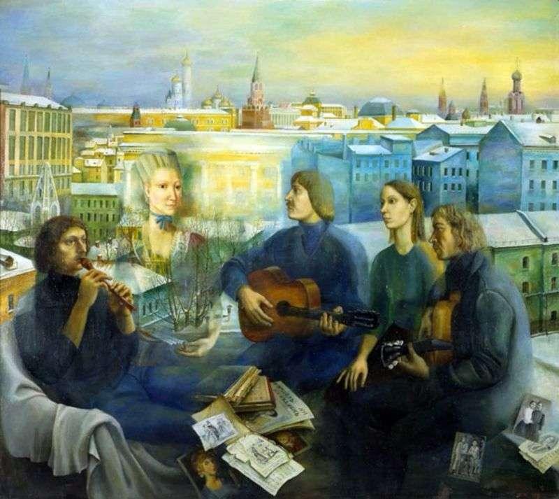 Moskwa wieczorem   Tatyana Nazarenko