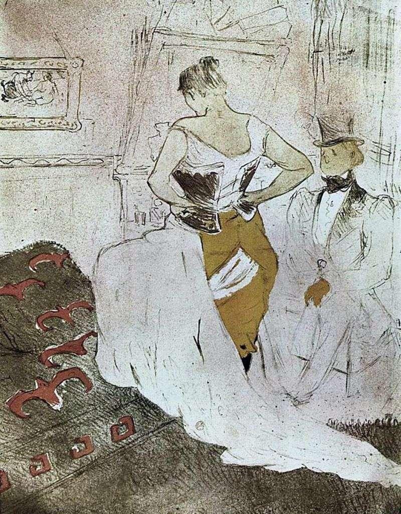 Gorsetowa dziewczyna   Henri de Toulouse Lautrec
