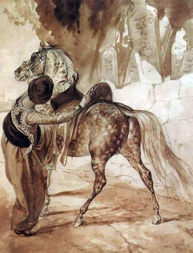 Grecki z koniem   Karl Brullov