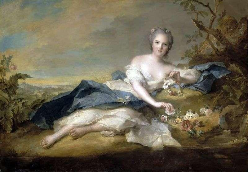 Henrietta French in Flora Costume   Jean Marc Nattier
