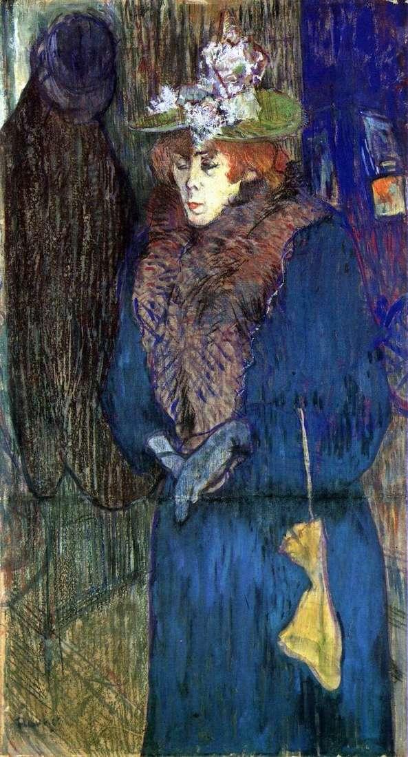 Jane Avril, część Moulin Rouge   Henri de Toulouse Lautrec