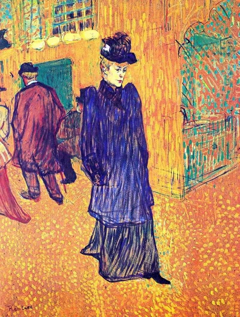 Jane Avril wychodzi z Moulin Rouge   Henri de Toulouse Lautrec