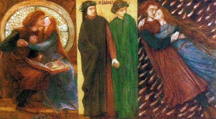 Paolo i Francesca   Dante Rossetti
