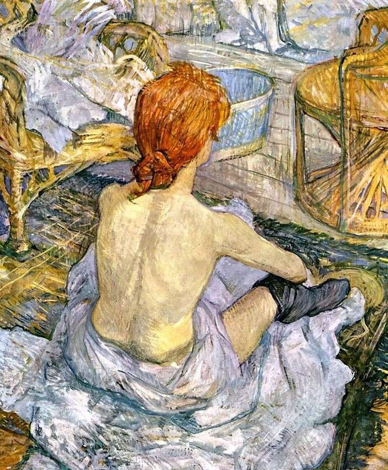 Kobieta w toalecie (WC)   Henri de Toulouse Lautrec