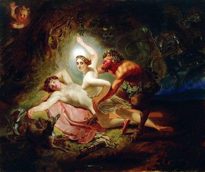 Diana, Endimon i Satyr   Karl Brullov