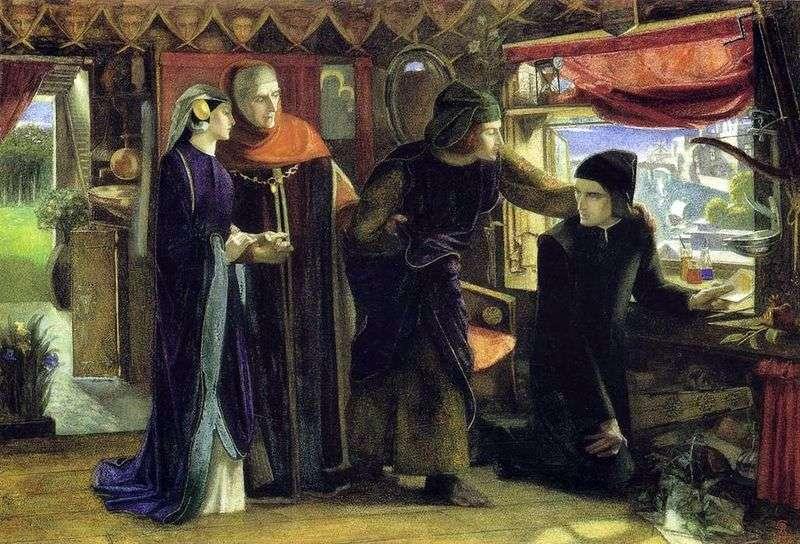 W pierwszą rocznicę śmierci Beatrice   Dante Rossetti
