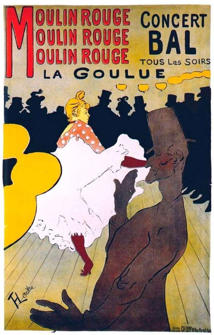 La Gulu w Moulin Rouge   Henri de Toulouse Lautrec