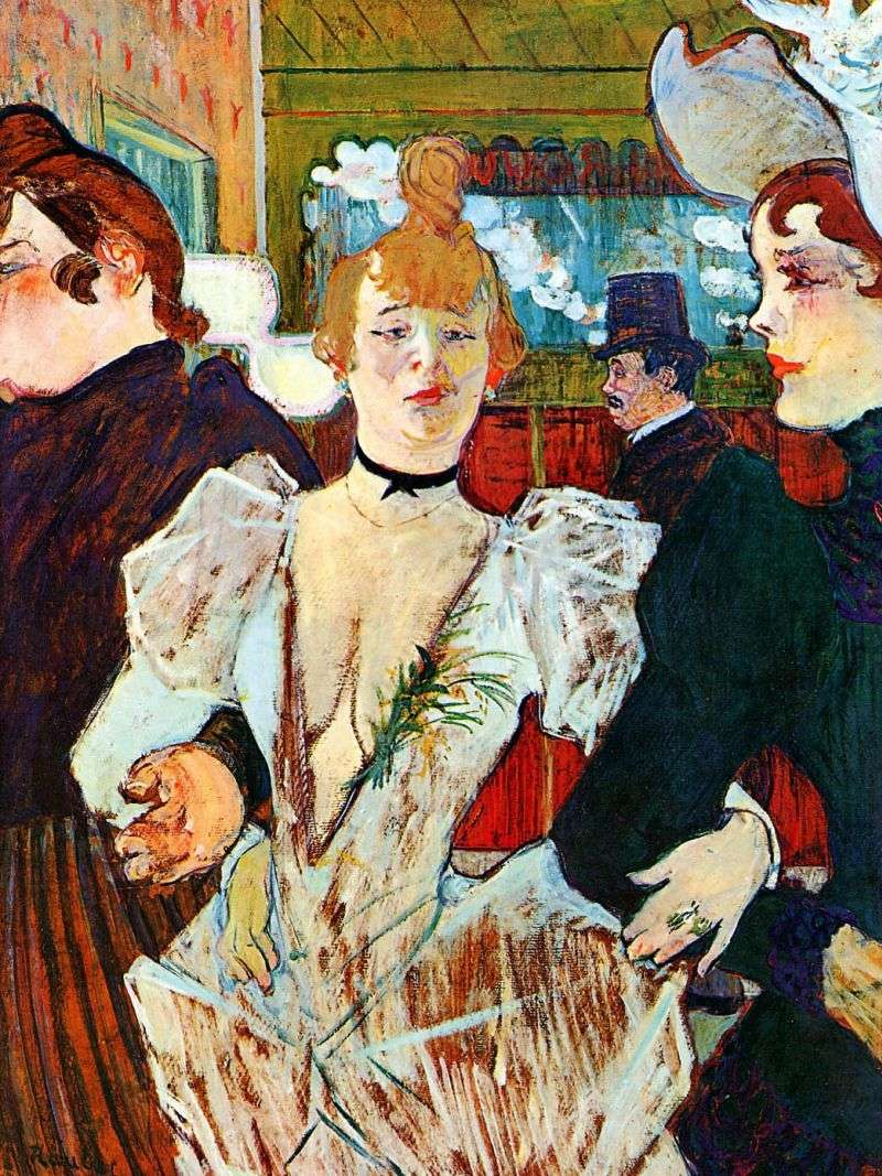 La Gulay wchodzi do Moulin Rouge z dwiema kobietami   Henri de Toulouse Lautrec