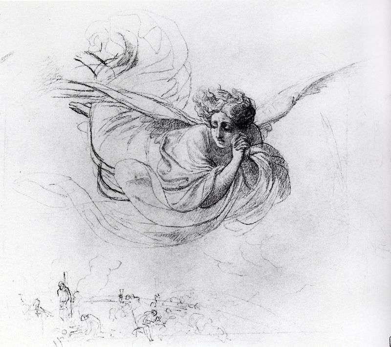 Latający anioł opłakujący ofiary inkwizycji   Karl Brullov