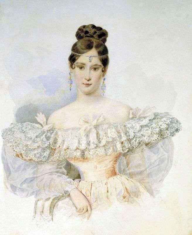 Natalya Pushkina, ur. Goncharova   Karl Bryullov
