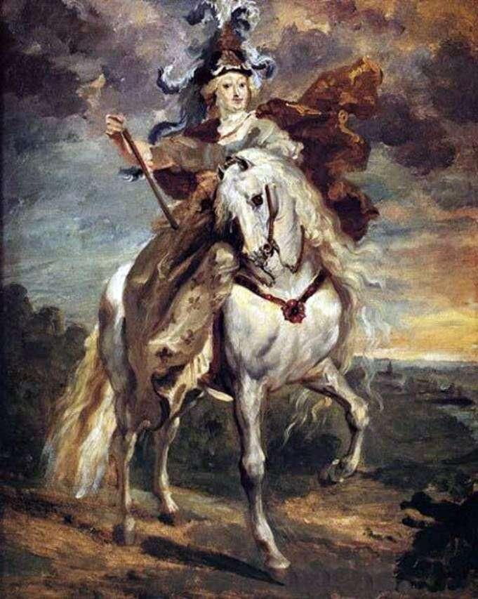 Marie de Medici w bitwie pod Pont de Seu   Theodore Gericault