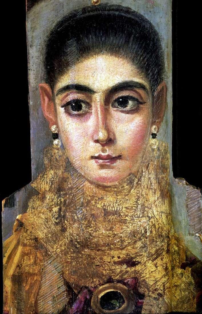 Portret młoda dama   Fayum portret