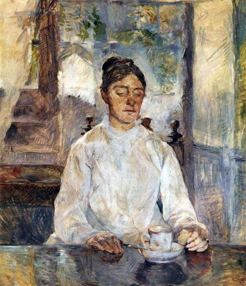 Matka artysty, hrabina Adele de Toulouse Lautrec na śniadaniu   Henri de Toulouse Lautrec