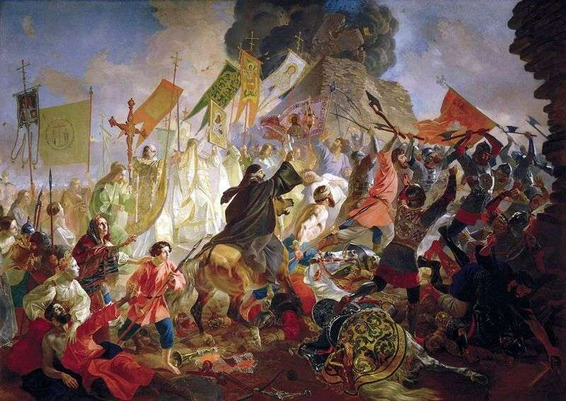 Oblężenie Pskowski   Karl Bryullov