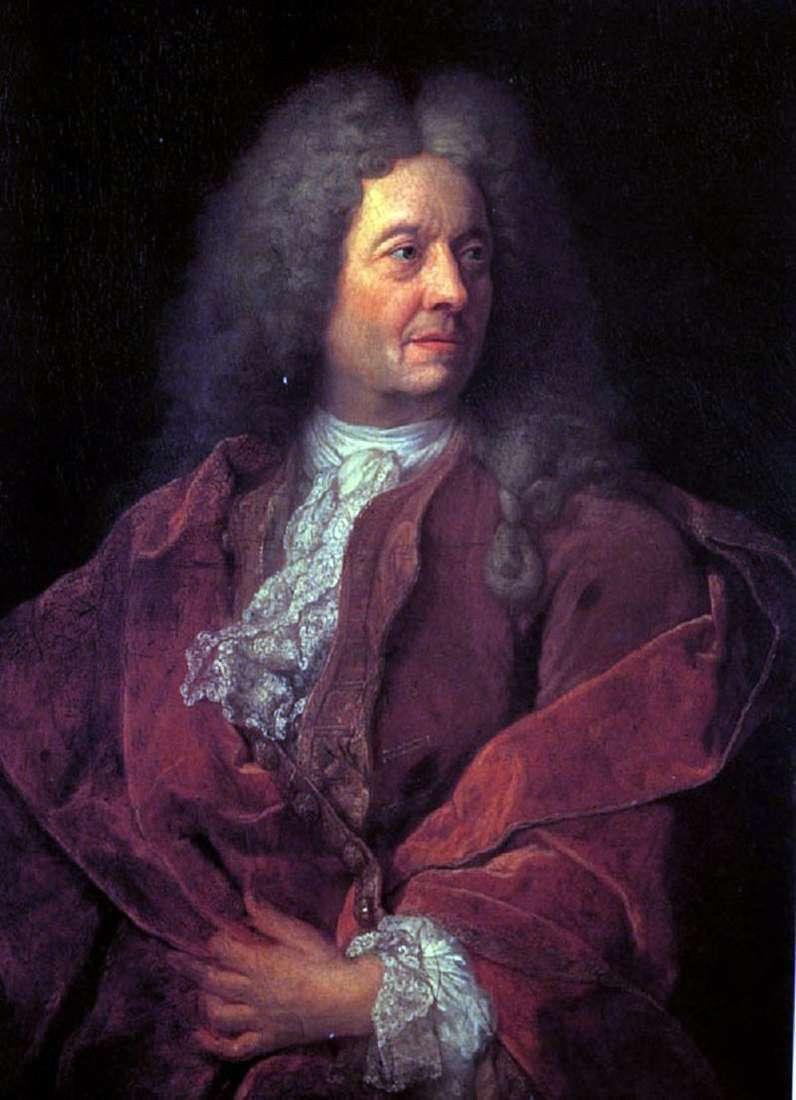 Portret mężczyzny w czerwieni   francuskiego mistrza z początku XVIII wieku