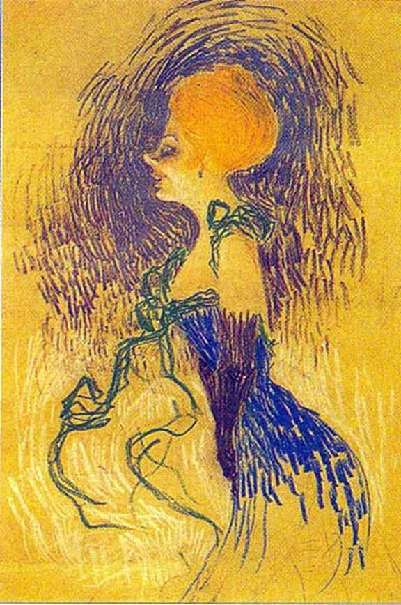 Młoda kobieta w rękawiczkach   Henri de Toulouse Lautrec