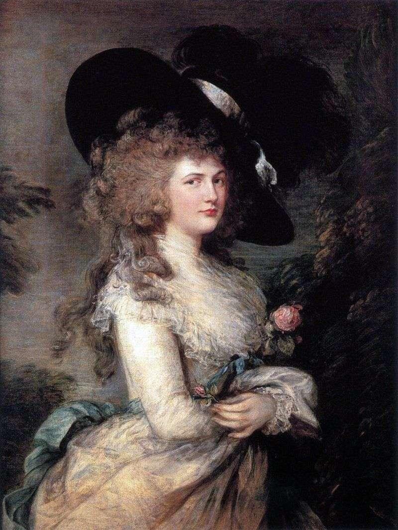 Portret Georgiana, Duchess of Devonshire   Thomas Gainsborough