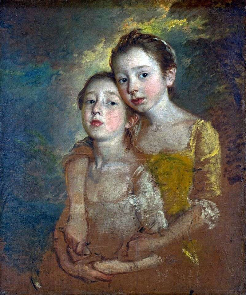 Portret córek artysty z kotem   Thomas Gainsborough