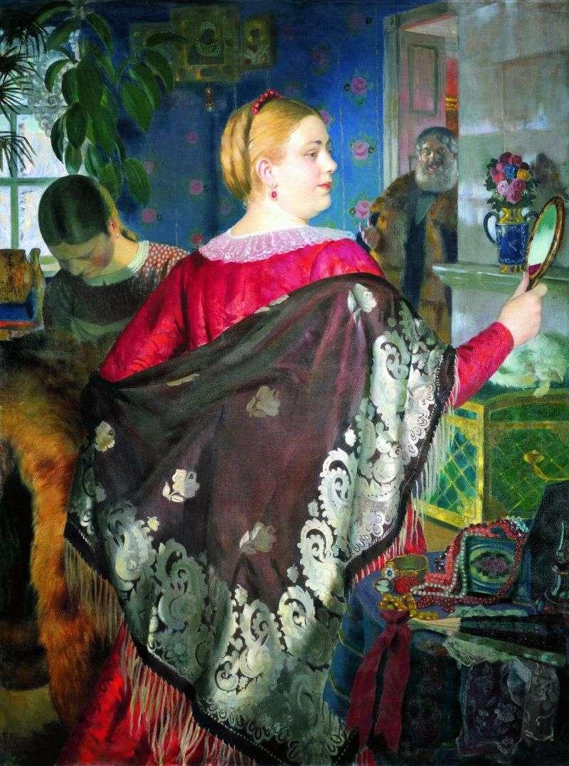 Kupiec z lustrem   Boris Kustodiew