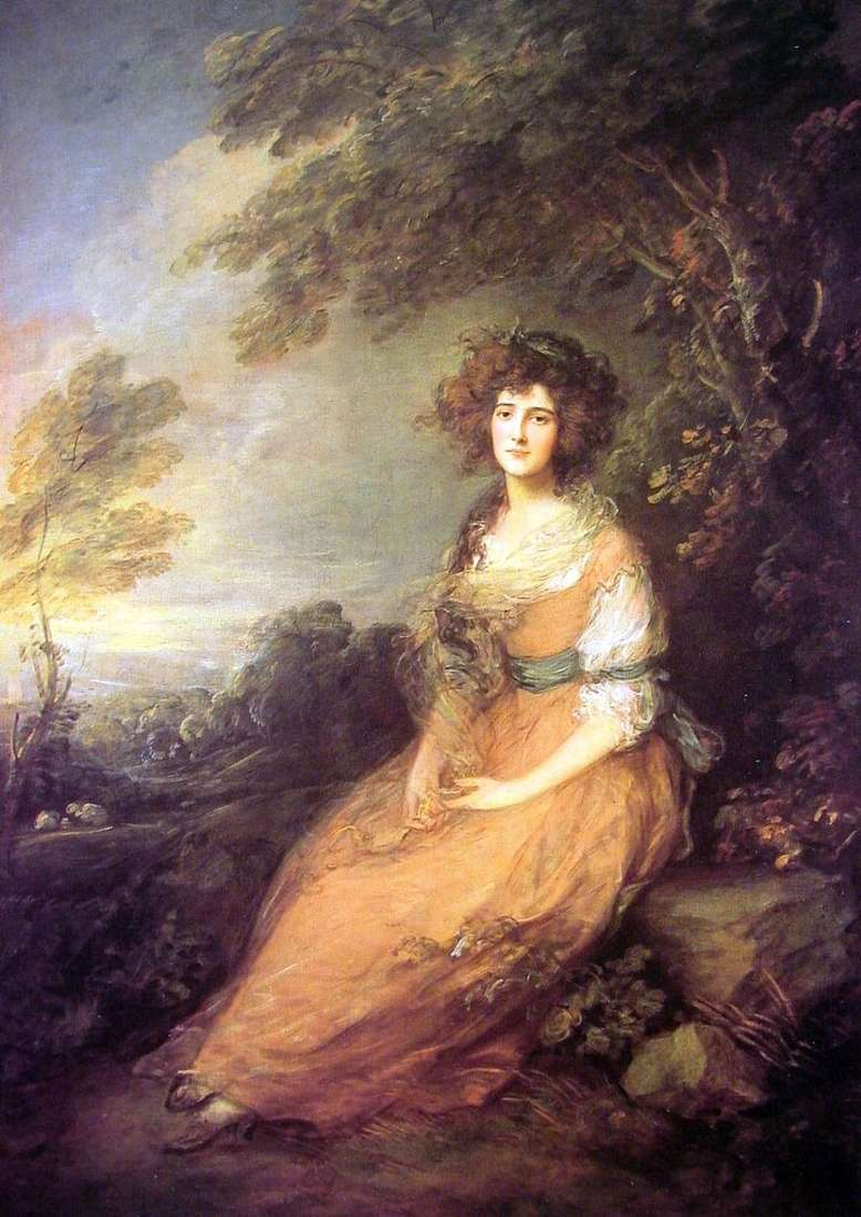 Portret pani Elizabeth Sheridan   Thomas Gainsborough