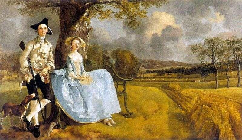 Portret pana Andrewsa ze swoją żoną   Thomas Gainsborough