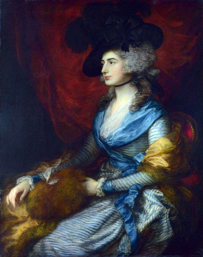Portret Sarah Siddons   Thomas Gainsborough
