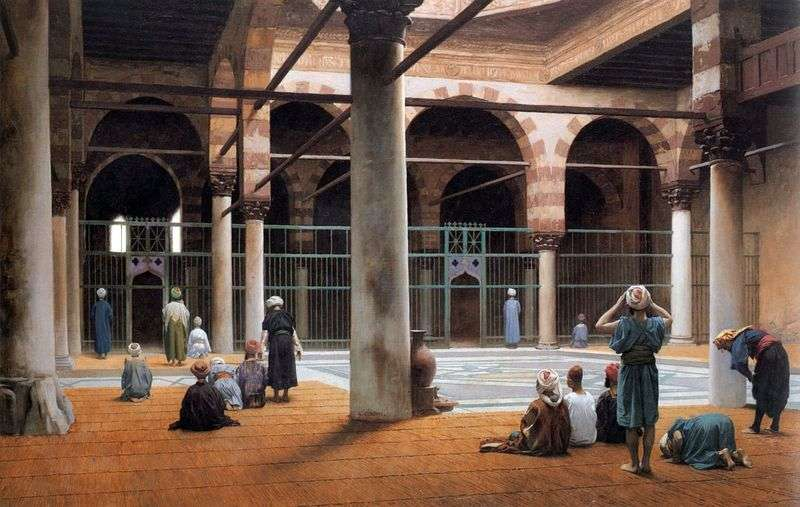 Wnętrze meczetu   Jean Leon Jerome