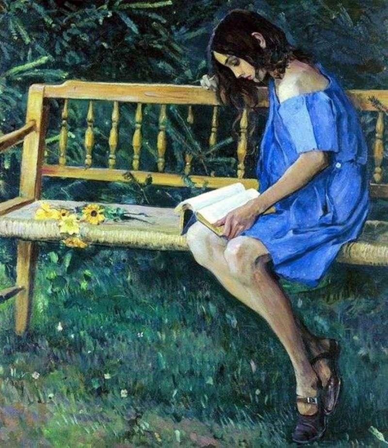 Natasha na ławce ogrodowej   Michaił Niestierow