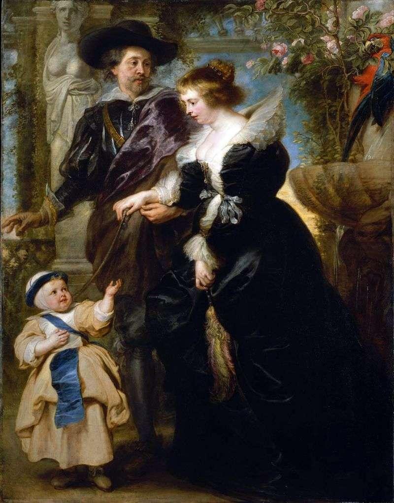 Autoportret z Eleną Fourman i Synem   Peterem Rubensem