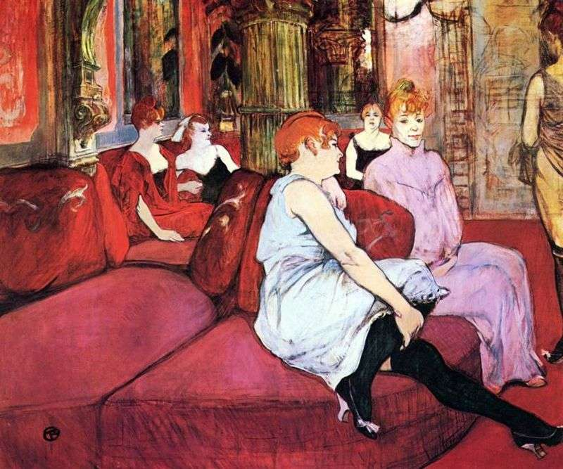 Salon na ulicy Moulin   Henri de Toulouse Lautrec