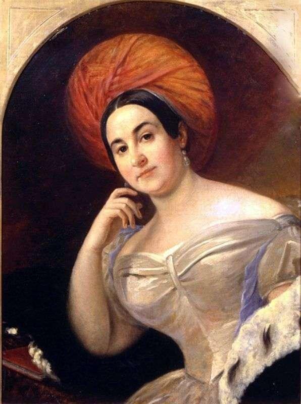 Portret aktorki E. S. Semenova   Karl Bryullov