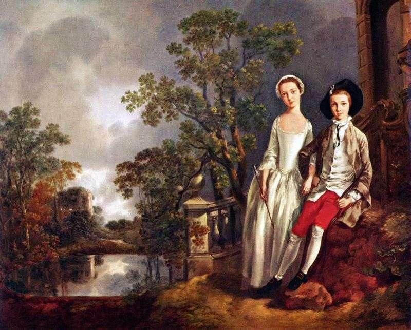 Portret Eneaja Lloyd z s. Lucy   Thomas Gainsborough