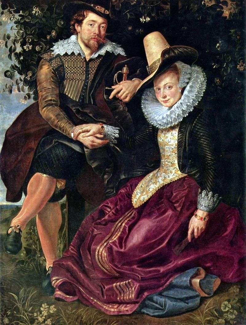Autoportret z Isabellą Brant   Peter Rubens