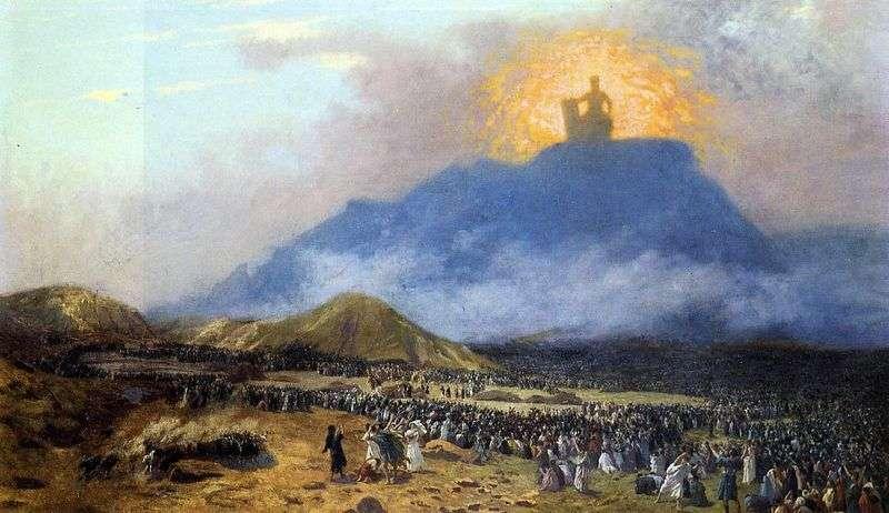 Mojżesz na górze Synaj   Jean Leon Jerome