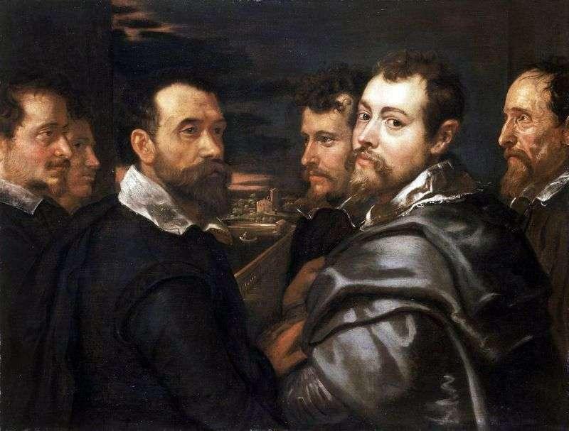 Autoportret z przyjaciółmi Mantuan   Peter Rubens