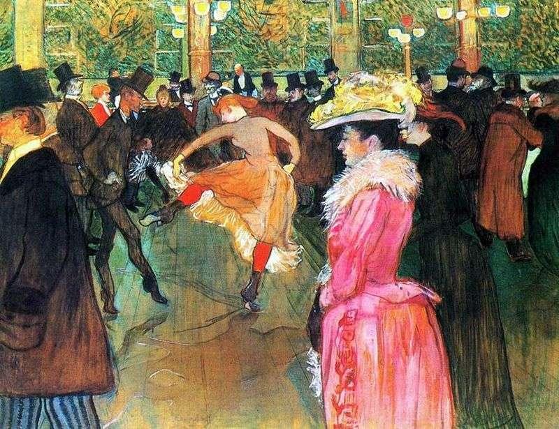 Taniec w Moulin Rouge   Henri de Toulouse Lautrec
